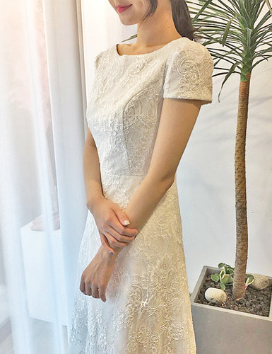 [대여] lace long dress53